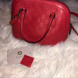 Gucci Dome Guccisima Bag (Red)🔥